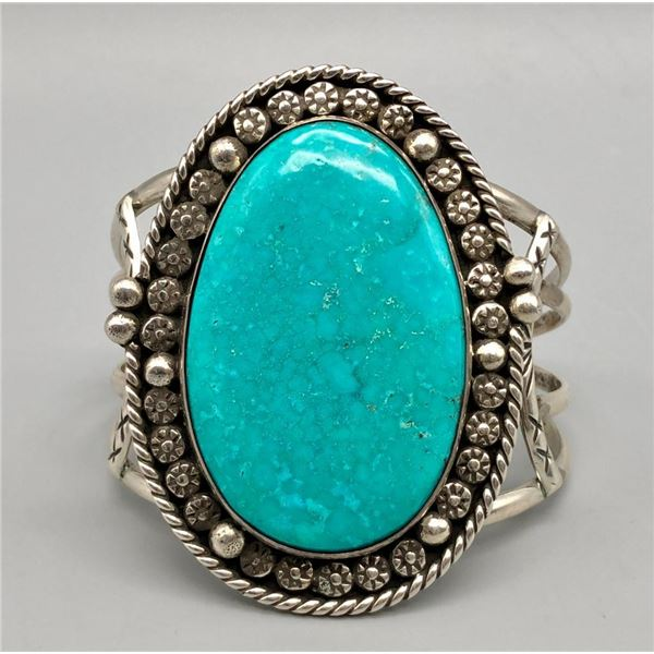 Turquoise and Sterling Silver Bracelet- HB