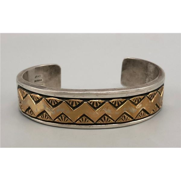 Sterling Silver 12k Gold Fill Bracelet with Nice Stamping