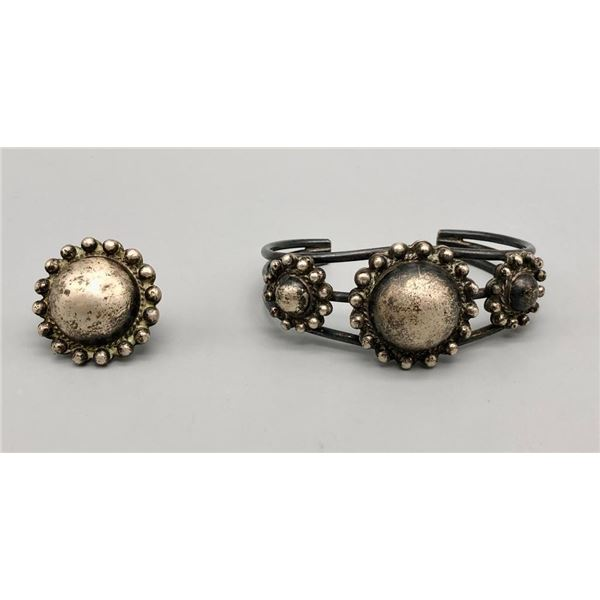 Sterling Silver Bracelet and Ring Set