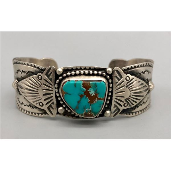 Turquoise and Sterling Silver Bracelet by Shawn Endito
