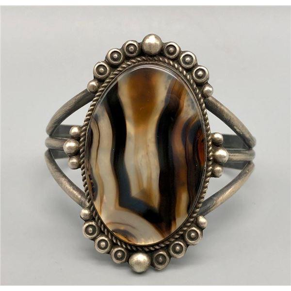 Sterling Silver and Agate Bracelet by Dean Sandoval JR