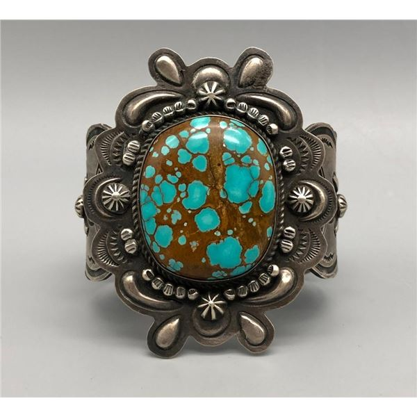 Tantalizing Turquoise and Sterling Silver Bracelet by Dean Sandoval
