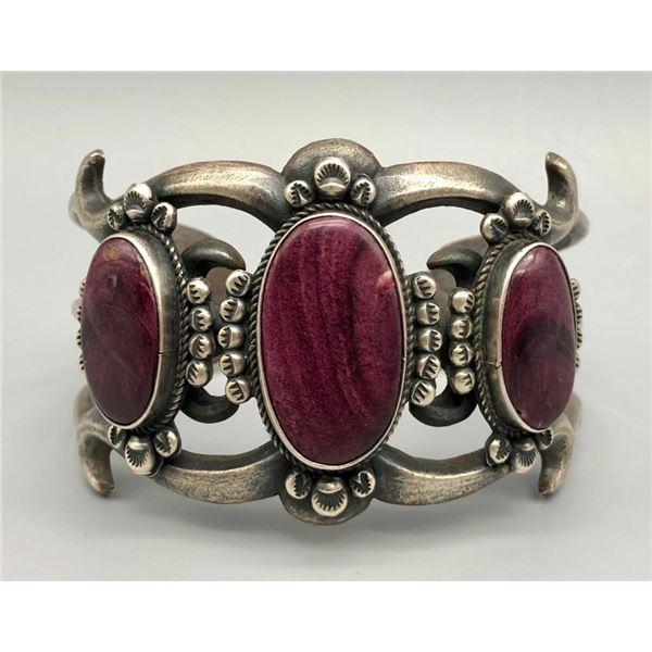 Perfect Purple Spiny Sandcast Bracelet