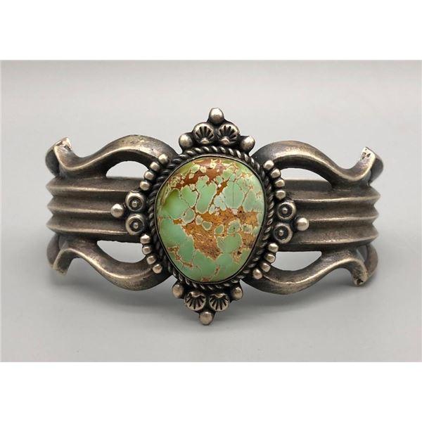 Green Turquoise Sandcast Bracelet
