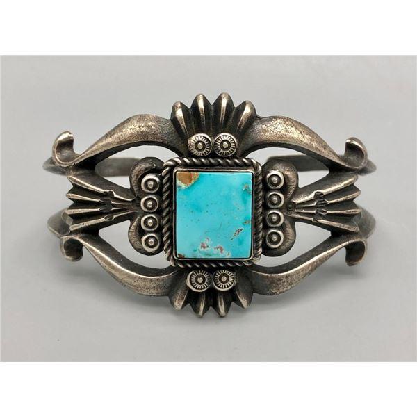 Bright Turquoise Sandcast Bracelet