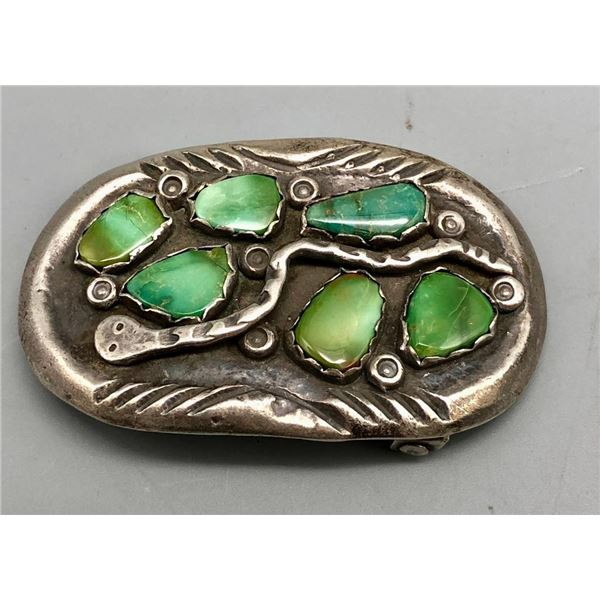 Turquoise and Snake Theme Buckle