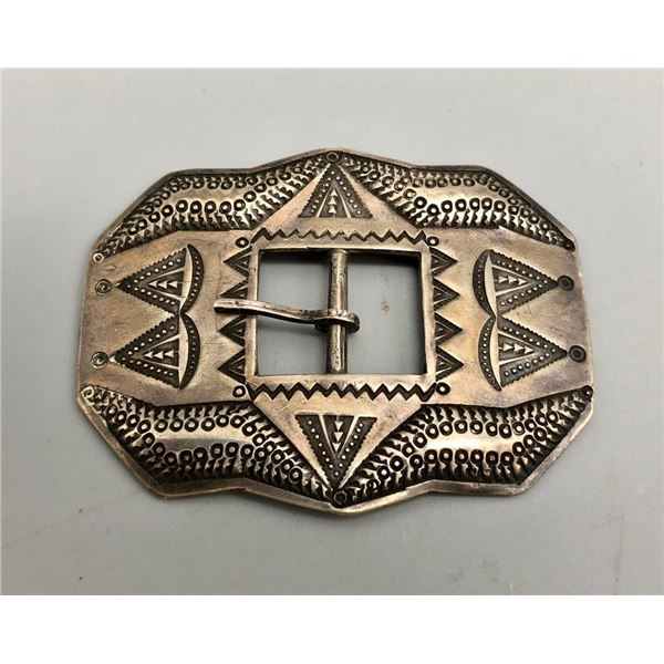 Awesome Repousse Designed Sterling Silver Buckle