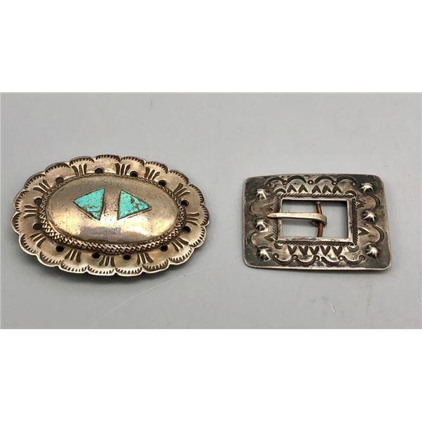 Two Vintage Belt Buckles