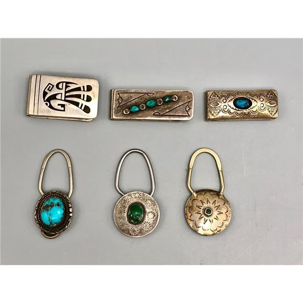 Group of Money Clips and Key Fobs