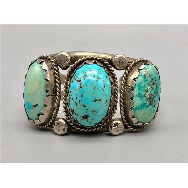 Vintage Three Stone Cuff Bracelet