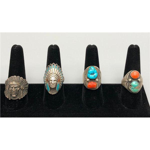 Four Vintage Rings