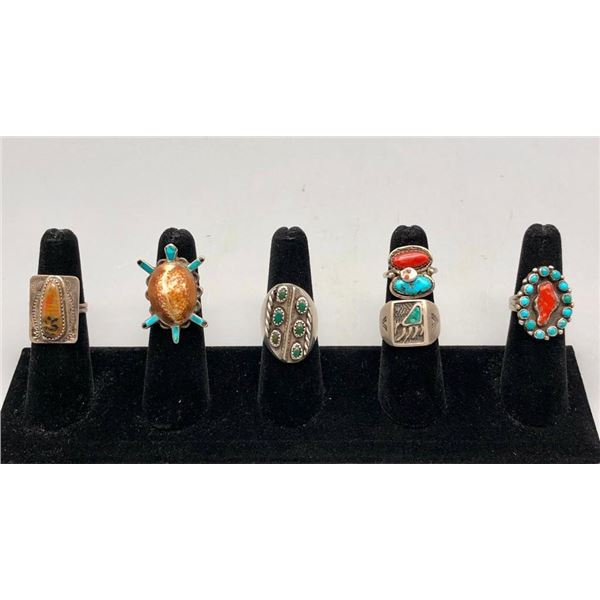 Six Snazzy Vintage Rings