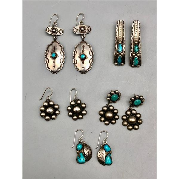 Group of Five Pairs of Vintage Earrings