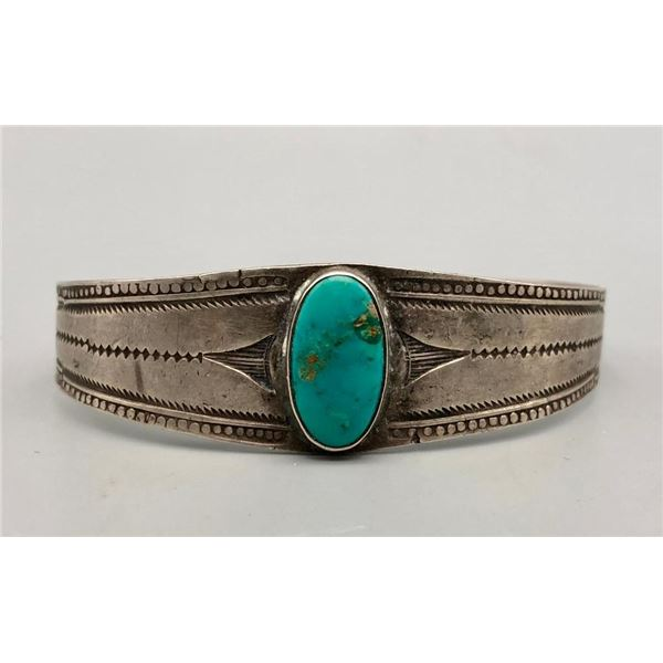Older Turquoise and Sterling Silver Bracelet