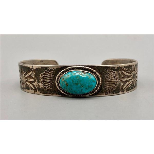 1950s Ingot and Turquoise Bracelet