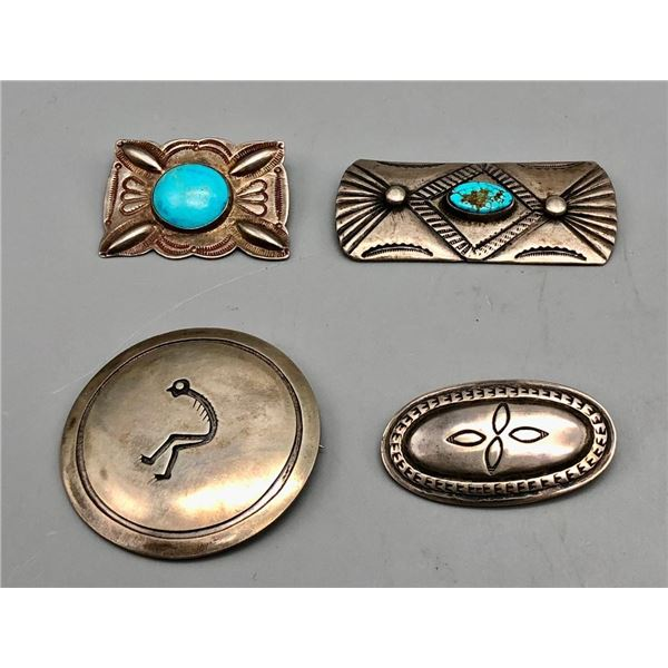 Group of Four Vintage and Turquoise Pins