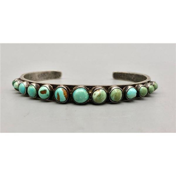 Enticing Ingot Turquoise Row Bracelet