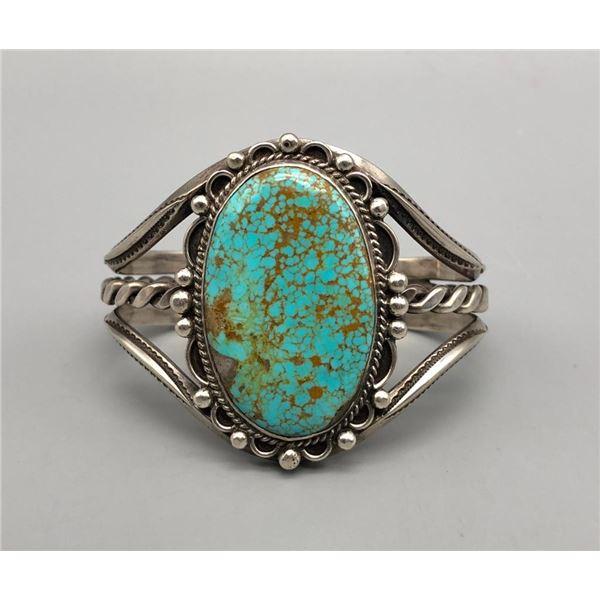 Vintage Turquoise Bracelet with Gorgeous Turquoise