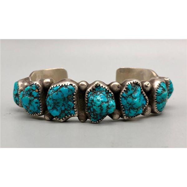 Seven Stone Turquoise Bracelet by Oscar Alexius
