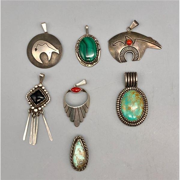 Seven Lovely Sterling Silver Pendants