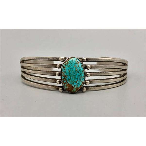 #8 Turquoise and Sterling Silver Bracelet