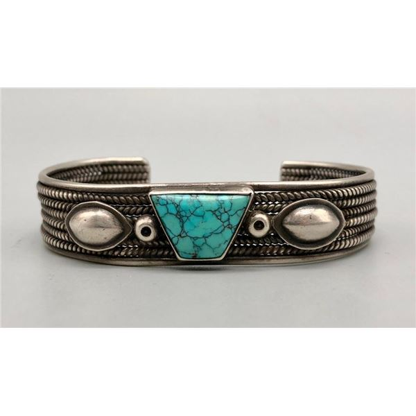Wonderful Vintage Bracelet with Spiderweb Turquoise