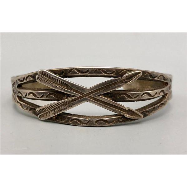1920s Ingot Bracelet with Arrow Theme