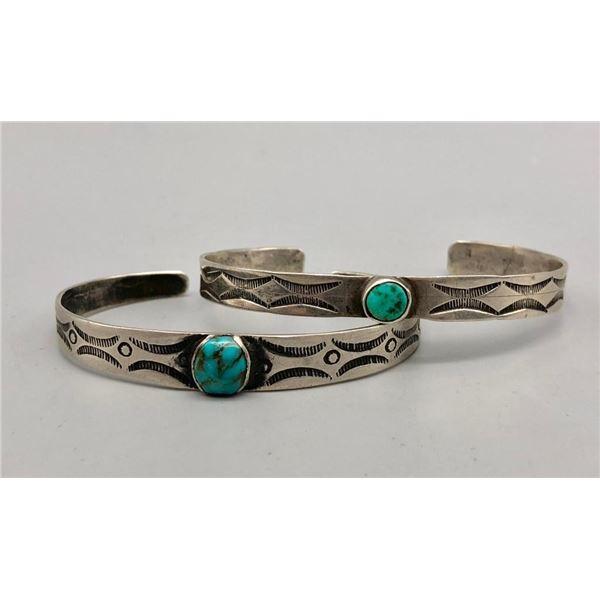 Two Older Handmade Turquoise Bracelets