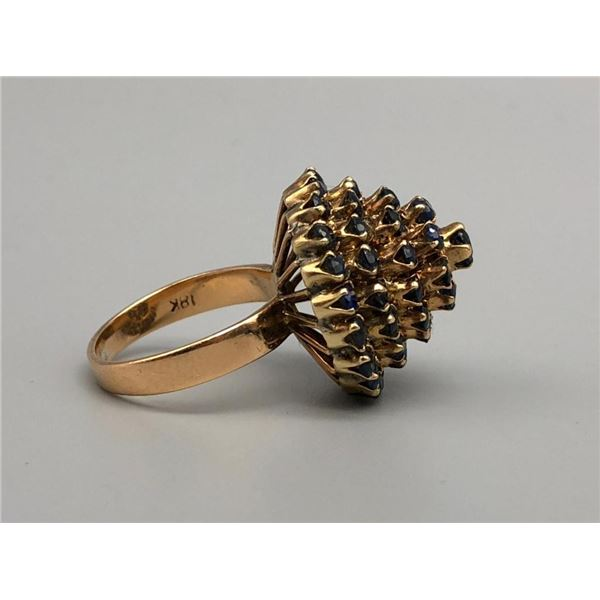 18k Gold and Sapphire Estate Ring