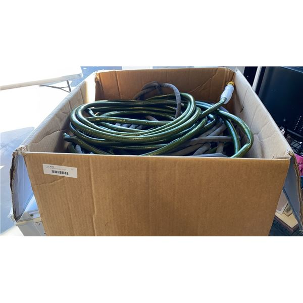 BOX OF GARDEN HOSES - SOME ATTACHMENTS NEED REPLACEMENT