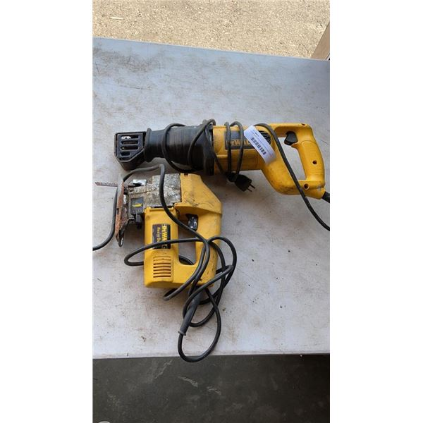 Dewalt reciprocating saw and heavy duty jigsaw both working