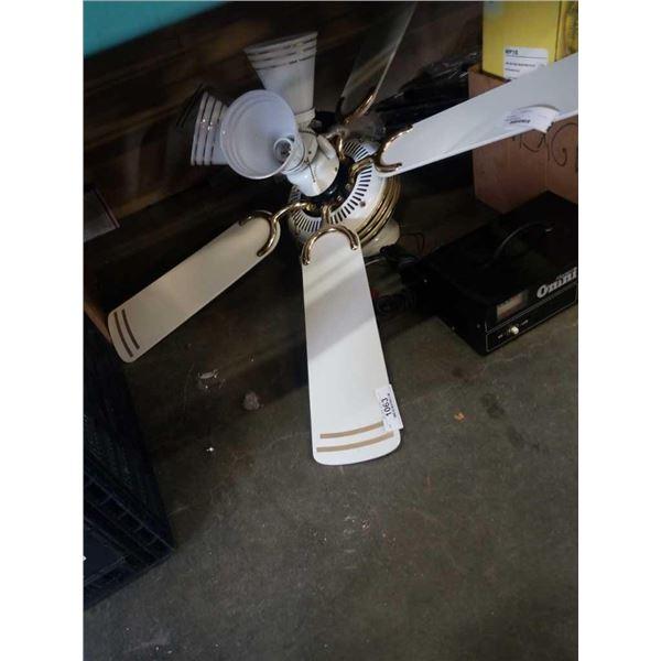 Ceiling fan with triple light