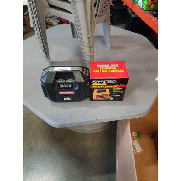 CHICAGO AUTOMATIC BATTERY CHARGER AND MOTOMASTER INFLATOR