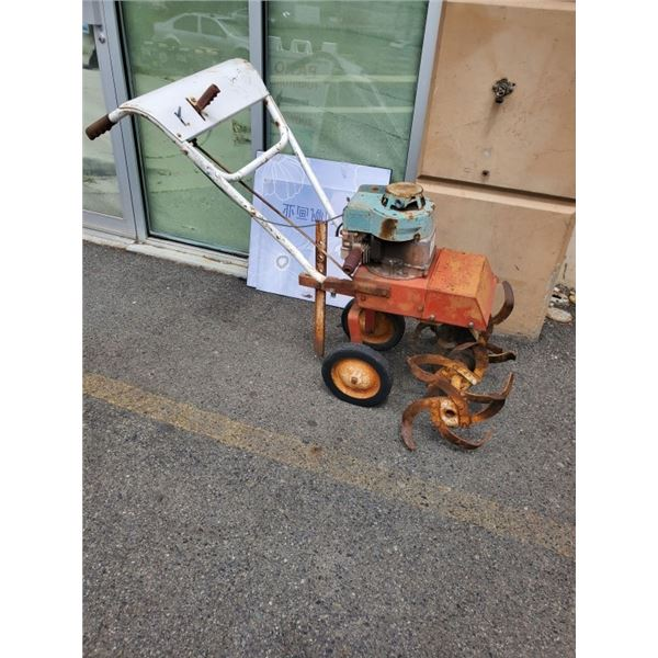 Gas powered rototiller as is