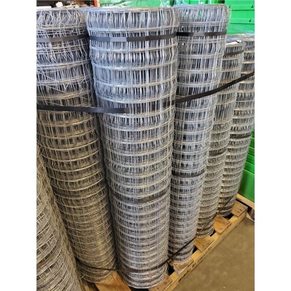 """2 - ROLLS OF MESH 54"""" TALL FENCING LARGE VARYING LENGTHS"""