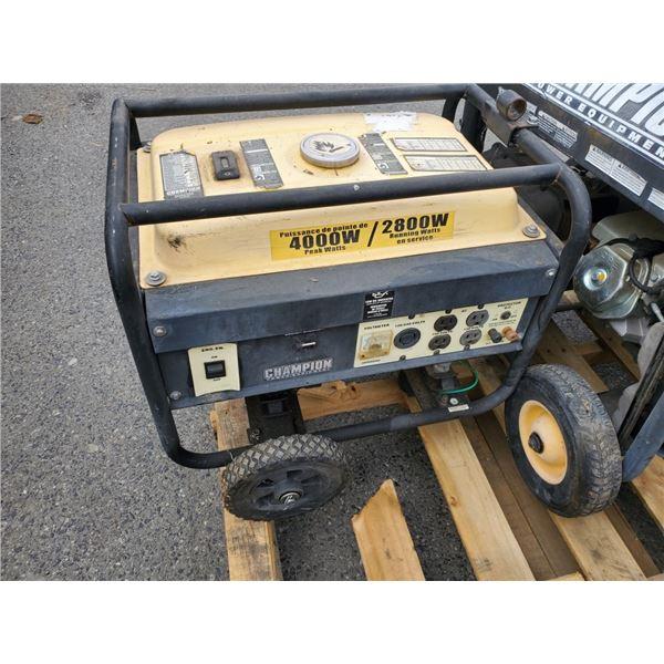 Champion 4000 peak Watt generator as is