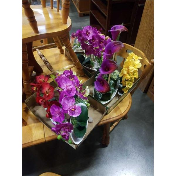 3 TRAYS OF NEW REALISTIC ARTIFICIAL ORCHIDS