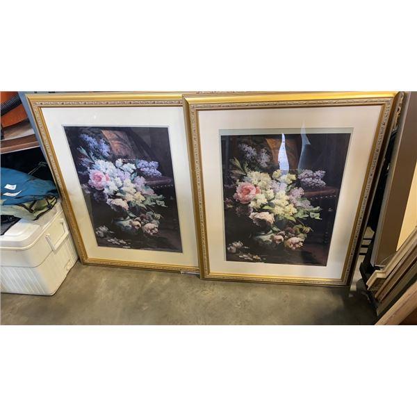 2 Signed still life framed print