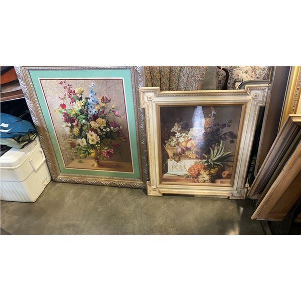 2 Signed still life framed prints