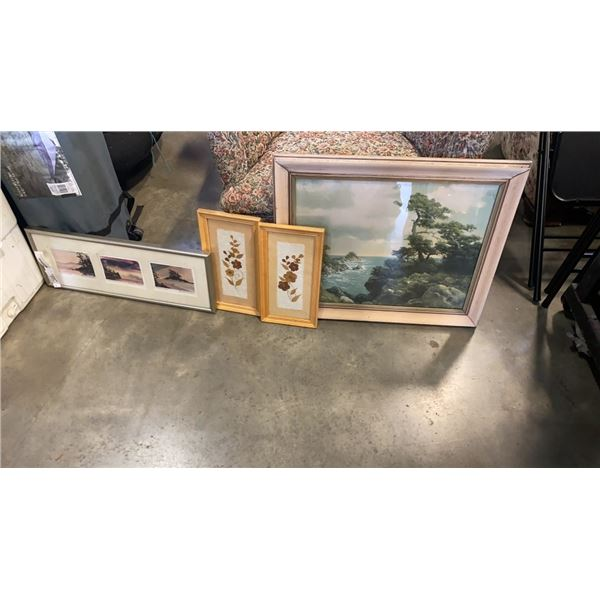 2 PRINTS AND 2 FRAMED ART PIECES