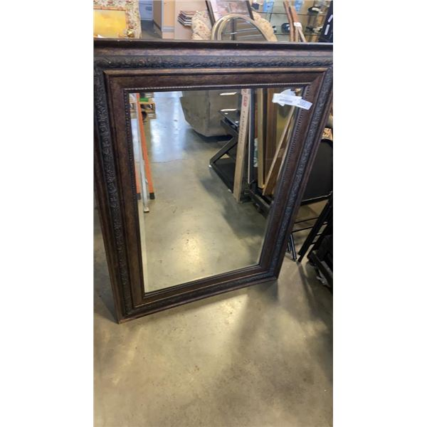 LARGE BEVELLED MIRROR - 46 INCHES TALL BY 34 WIDE
