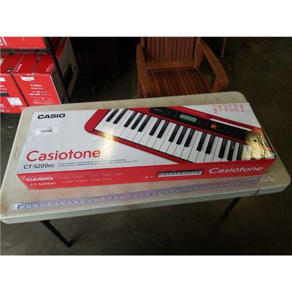 AS NEW CASIOTONE CT-S20RD DIGITAL KEYBOARD TESTED WORKING