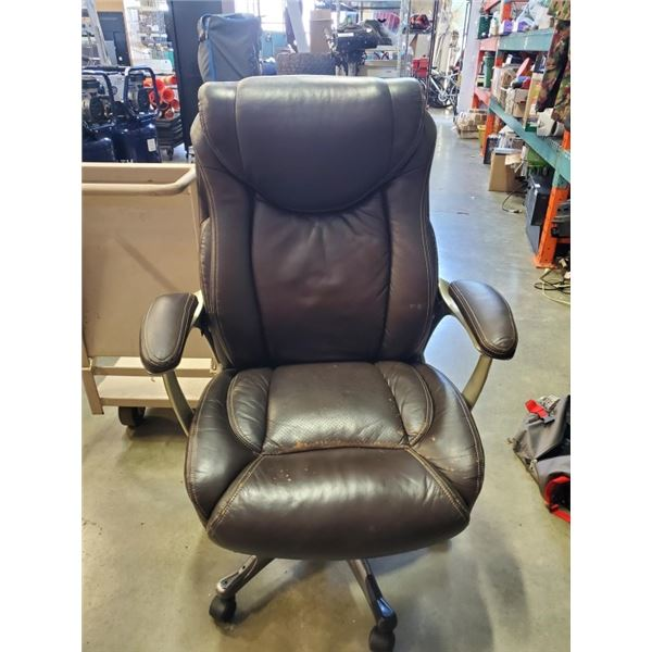 Brown gas lift office chair