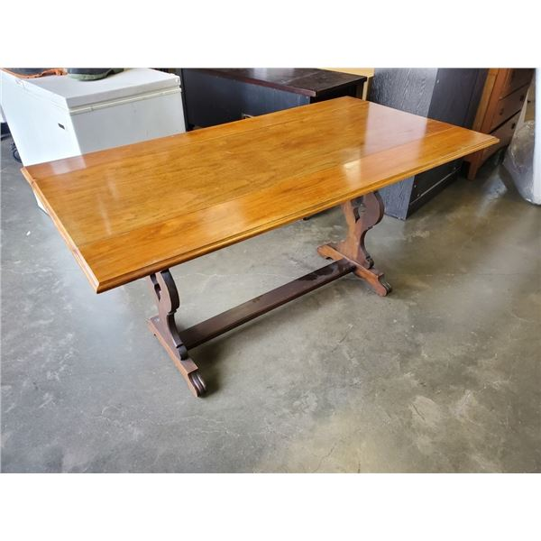 VINTAGE DROPSIDE TABLE - 32 INCHES WIDE WHILE EXTENDED X 5 FOOT LONG X 30 TALL