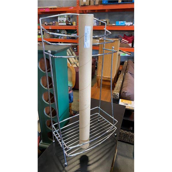 Metal towel rack and 2 picture hangers