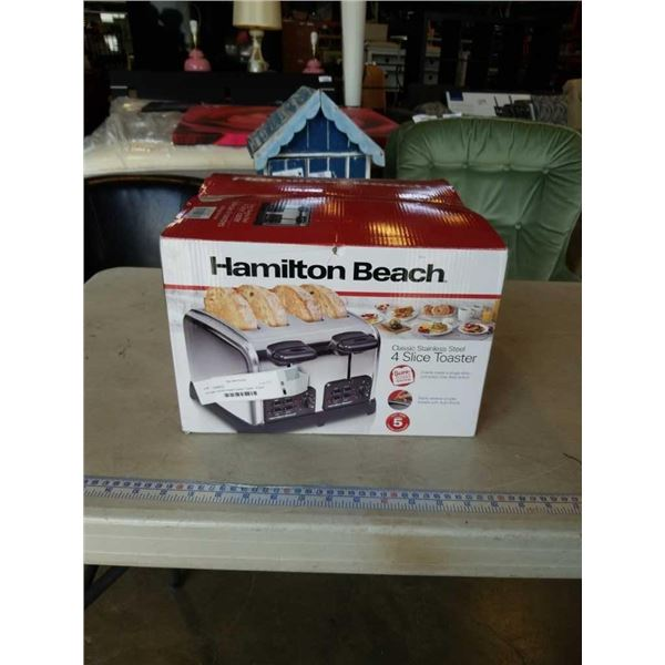 As new Hamilton Beach Classic Toaster - 4-Slice tested and working