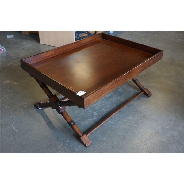 MAHOGANY FINISH COFFEE TABLE