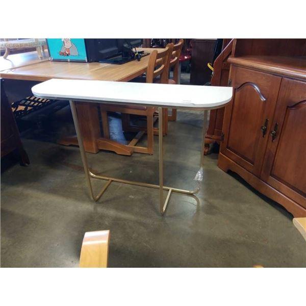 METAL BASE WHITE TOP HALL TABLE