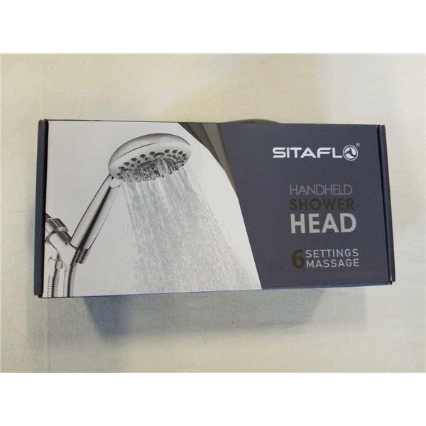 NEW SITAFLO HANDHELD SHOWER HEAD WITH 6 SETTING MASSAGE RETAIL $39
