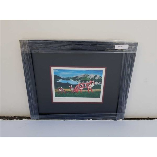 Limited edition print Buck Mountain Fox by Robert Shorty signed and number